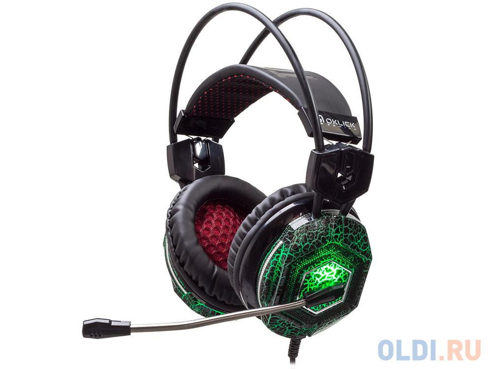 Наушники (гарнитура) Oklick HS-L500G черный