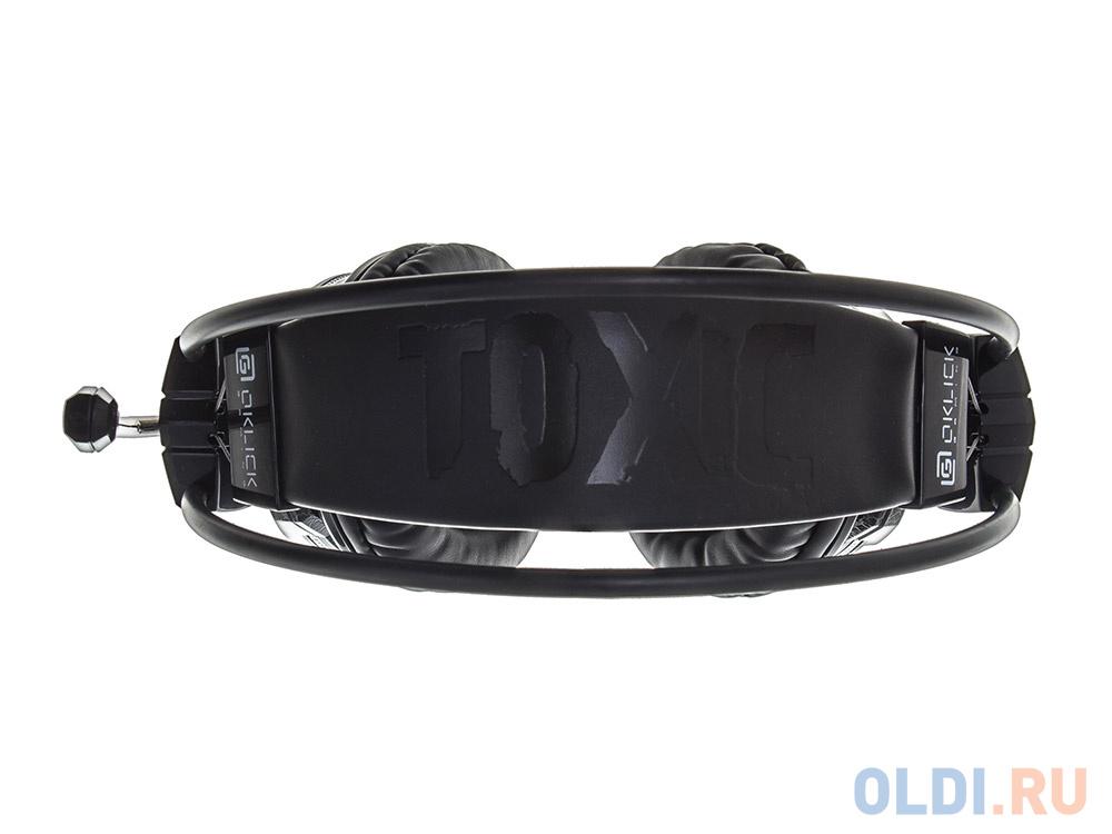 Игровая гарнитура проводная Oklick HS-L500G черный игровая гарнитура oklick hs l930g snorter черный синий hs l930g