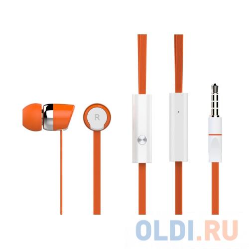 наушники xiaomi mi headphone comfort white проводные накладные с микрофоном белый 20 гц 40 кгц 107 дб двухстороннее mini jack 3 5 мм Наушники HARPER KIDS HV-104 / Проводные / Внутриканальные с микрофоном / Оранжевый / 20 Гц - 20 кГц / 100 дБ / Двухстороннее / Mini-jack / 3.5 м