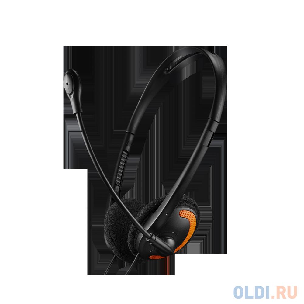 Наушники CANYON PC (микрофон ,регулятор громкости,1.8M) чёрные-оранжевые (OSCNSCHS01BO)