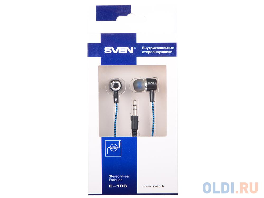 Наушники SVEN E-106 черный синий