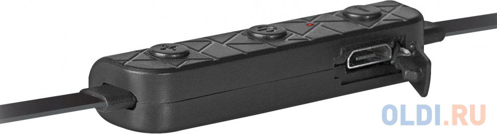 Гарнитура Defender FreeMotion B680 черный, вставки, Bluetooth