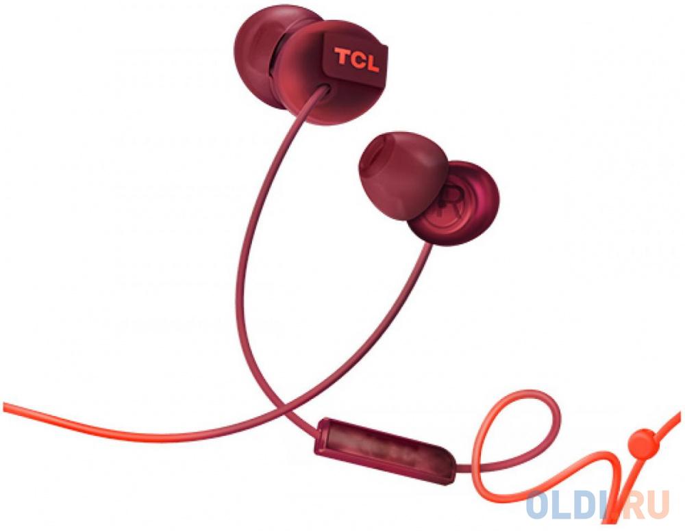 Наушники (гарнитура) TCL SOCL300OR-EU Red