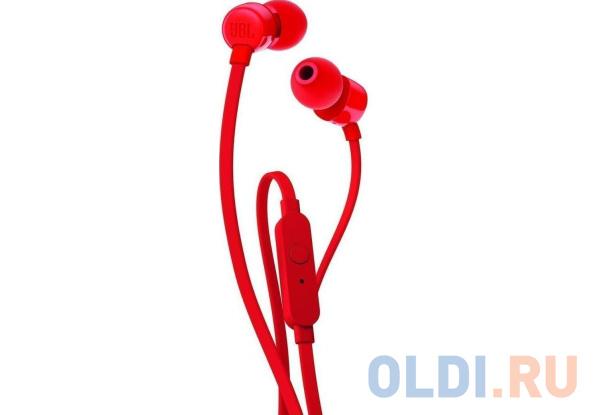Наушники (гарнитура) JBL T110 Red