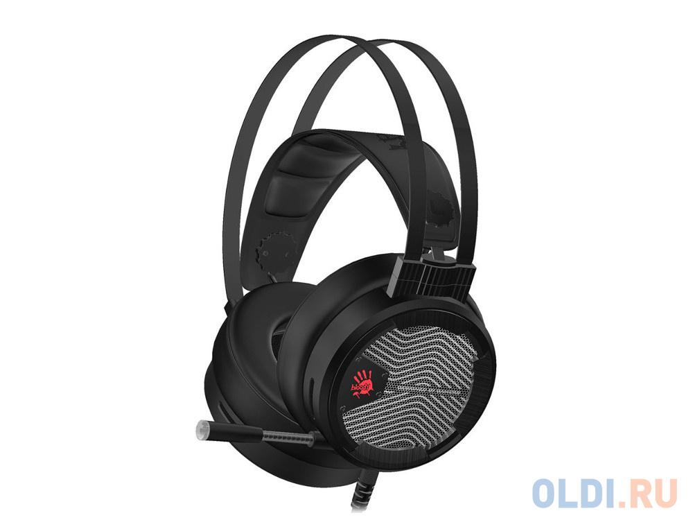 Наушники с микрофоном A4 M620T черный 1.8м мониторы оголовье