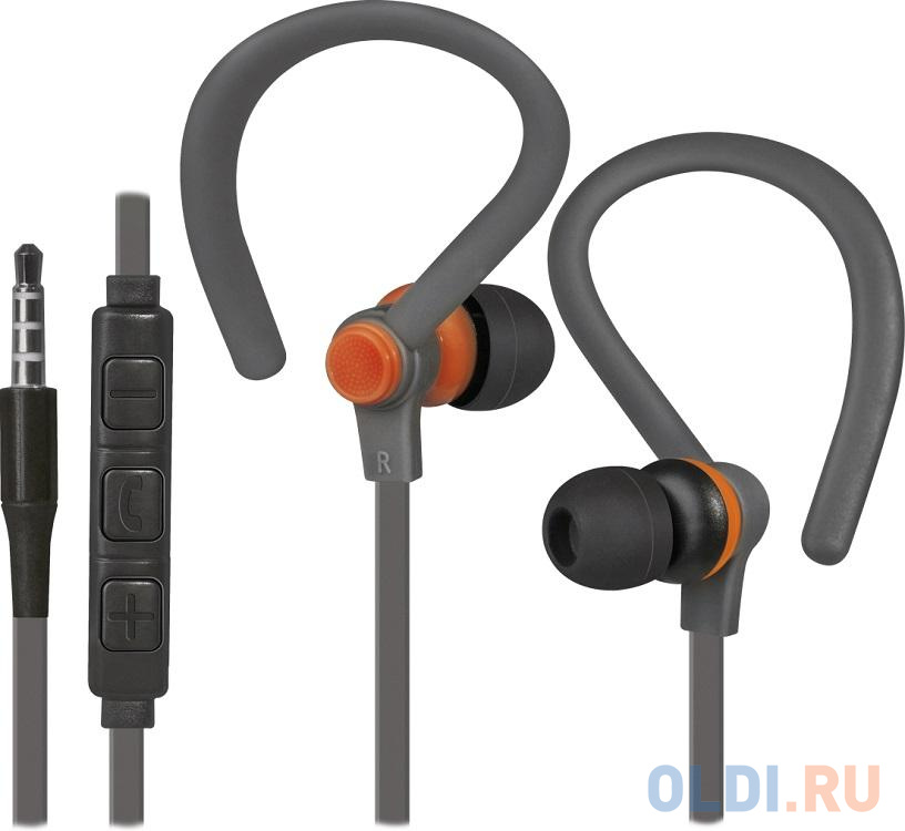 Гарнитура Defender OutFit W760 серый+оранжевый, вставки