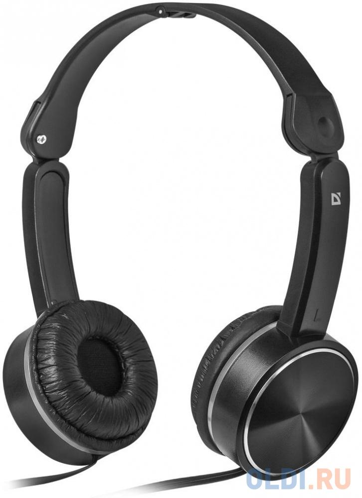 Гарнитура Defender Accord-145 черный, кабель 1,25 м