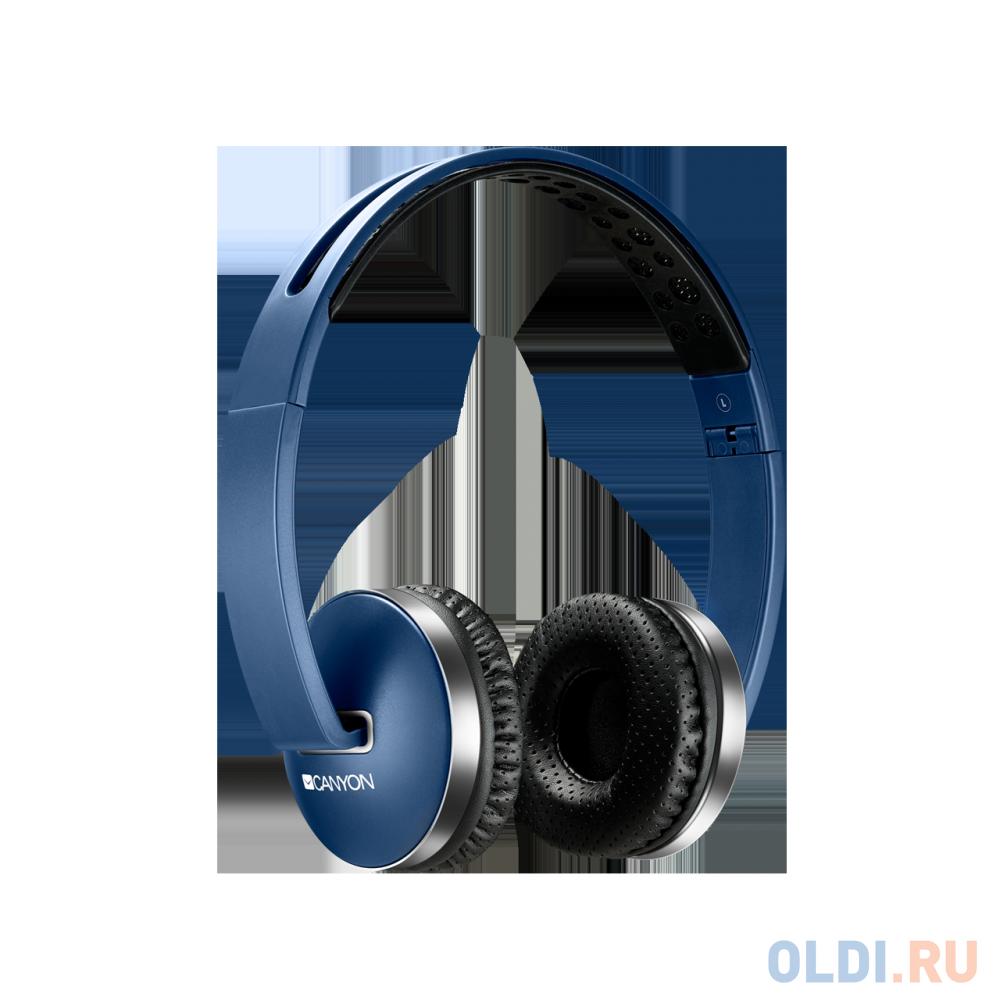 Гарнитура CANYON (синий,Bluetooth 4.2,управление громкостью
