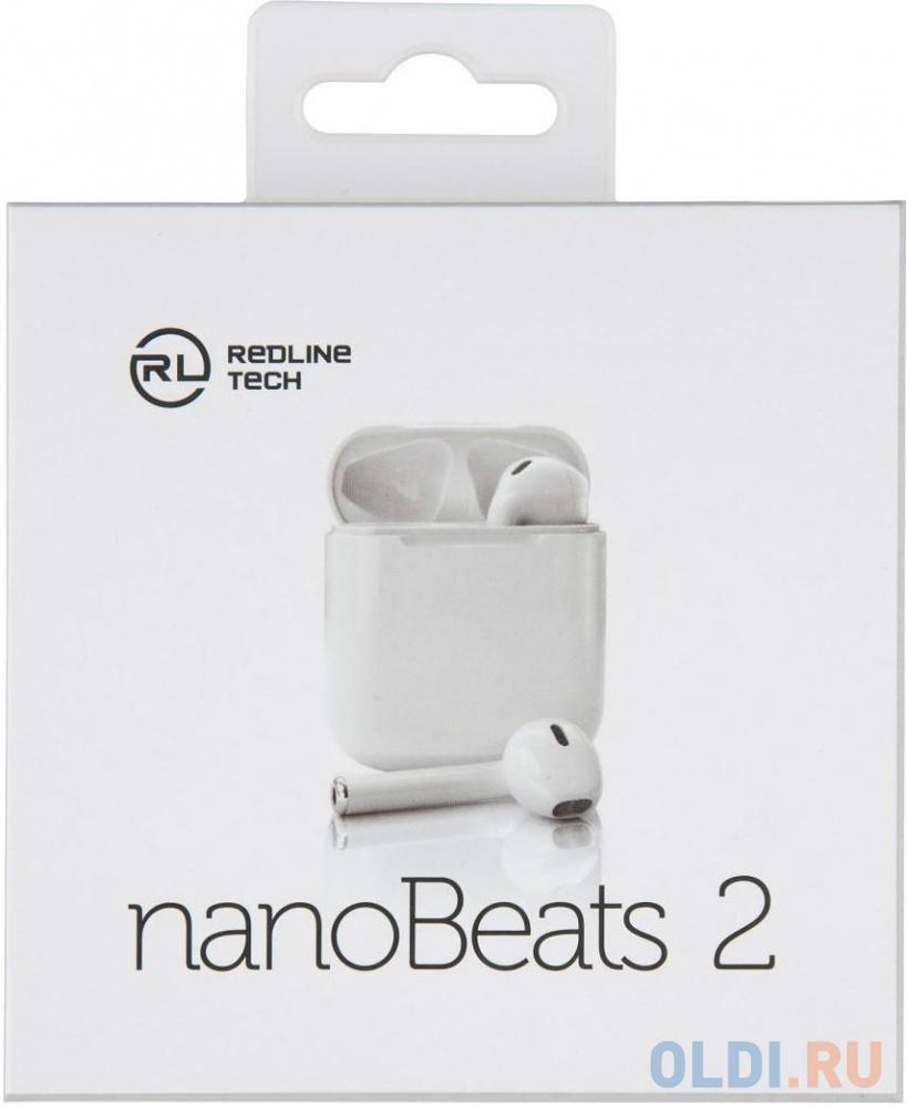 Гарнитура вкладыши Redline nanoBeats 2 BHS-11 белый беспроводные bluetooth (в ушной раковине) (кейс в компл.)