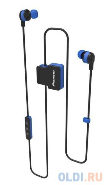 Гарнитура вкладыши Pioneer SE-CL5BT-L синий беспроводные bluetooth (шейный обод)