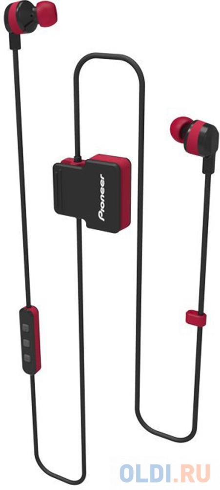 Гарнитура вкладыши Pioneer SE-CL5BT-R красный беспроводные bluetooth (шейный обод)