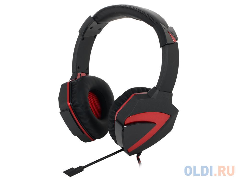 Гарнитура A4Tech Bloody G501 черный/красный (2.2м) микрофон, регулятор гр. (surround) игровая гарнитура a4tech bloody g501 7 1