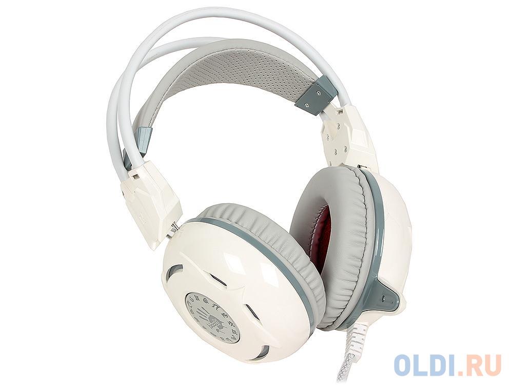 Гарнитура A4Tech Bloody G300 gray+white (2.2м)