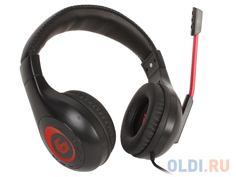 Гарнитура стерео Gembird MHS-G30 Survarium, Black+red (рег громкости, каб 2.5м)