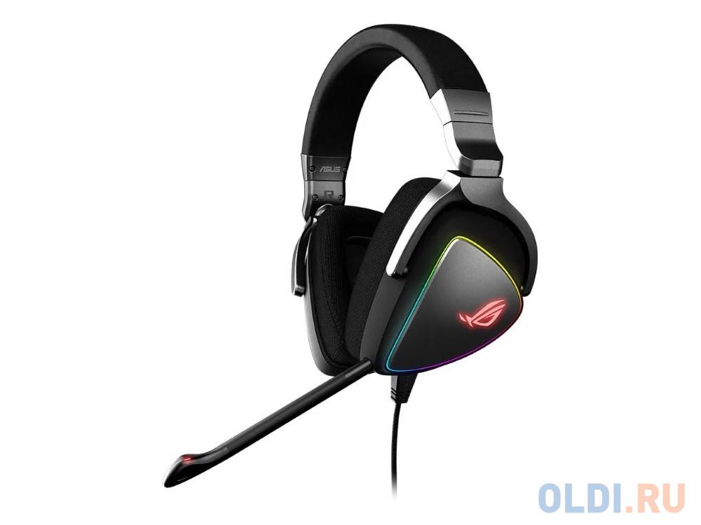 Игровая гарнитура ASUS ROG Delta черные (USB Type-C + A, RGB подсветка, 50 мм неодимовые магниты, 32 Ом, 20 ~ 20000 Гц, микрофон, 90YH00Z1-B2UA00)