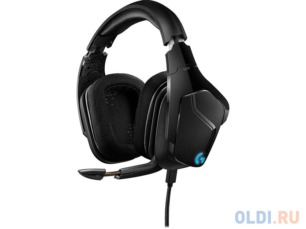 (981-000750) Гарнитура Logitech 7.1 Surround Sound LIGHTSYNC Wired Gaming Headset G635 гарнитура logitech headset zone wired uc 981 000875 серые
