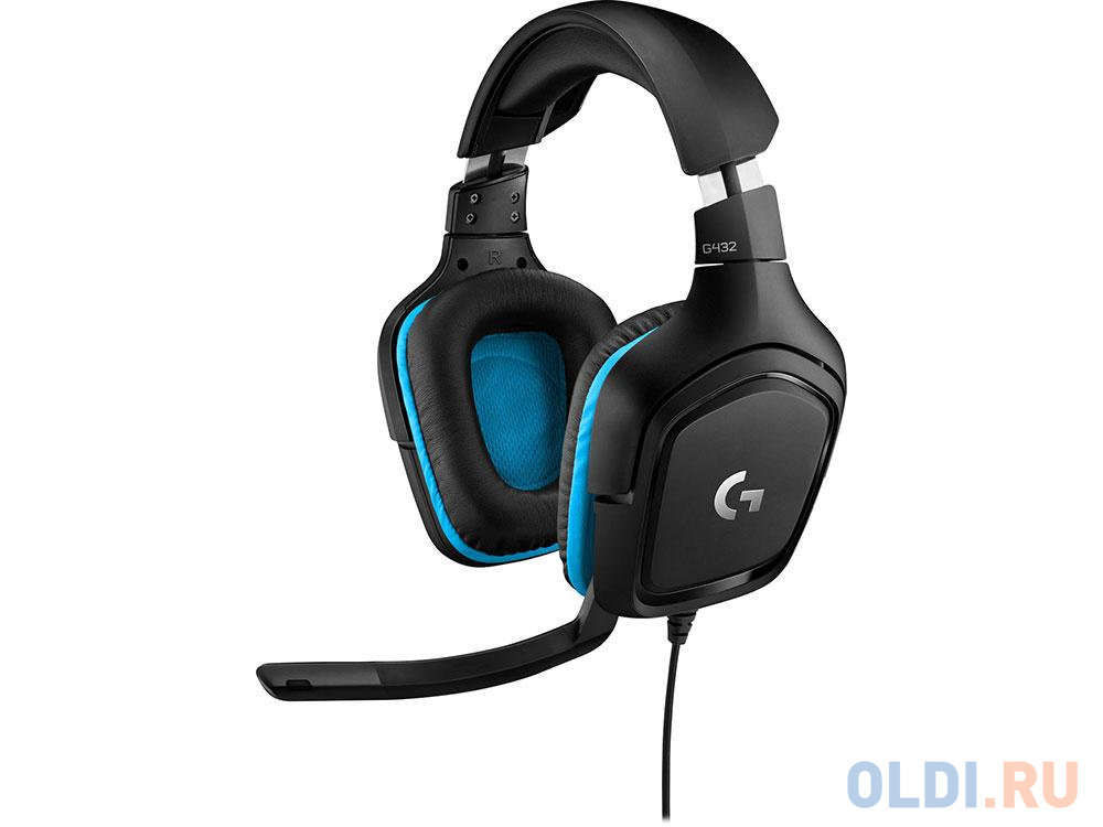 (981-000770) Гарнитура Logitech 7.1 Surround Sound Wired Gaming Headset G432 Leatherette