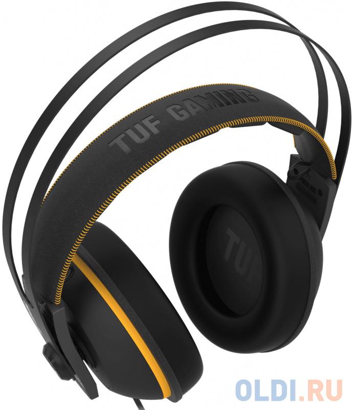 Игровая гарнитура проводная ASUS TUF Gaming H7 черный желтый