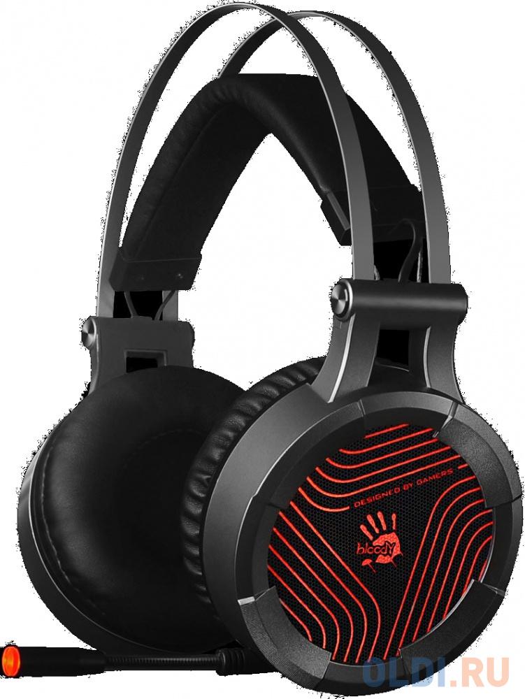 Наушники с микрофоном A4 Bloody G530 черный/серый 1.8м мониторы оголовье (G530)
