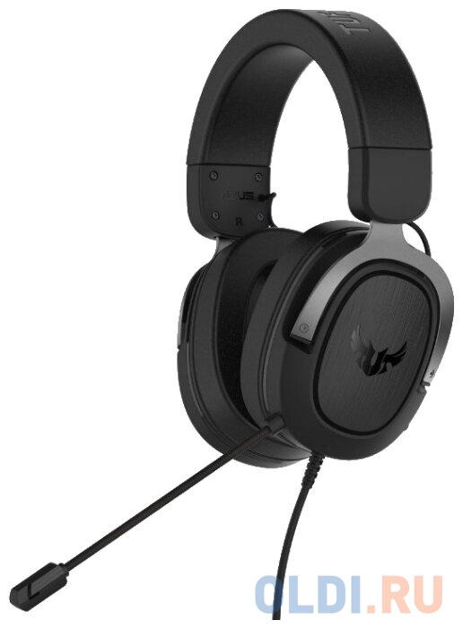 Игровая гарнитура проводная ASUS TUF Gaming H3 черный серый 90YH028G-B1UA00