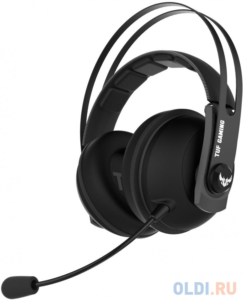 Игровая беспроводная гарнитура ASUS TUF Gaming H7 чёрно-серая (2.4GHz, 7.1 виртуально, 53 мм, неодимовые магниты, 32 Ом, 20~20000 Гц, микрофон, USB, PC, Mac, PS4, Nintendo Switch, Xbox One, 90YH020G-B3UA00)