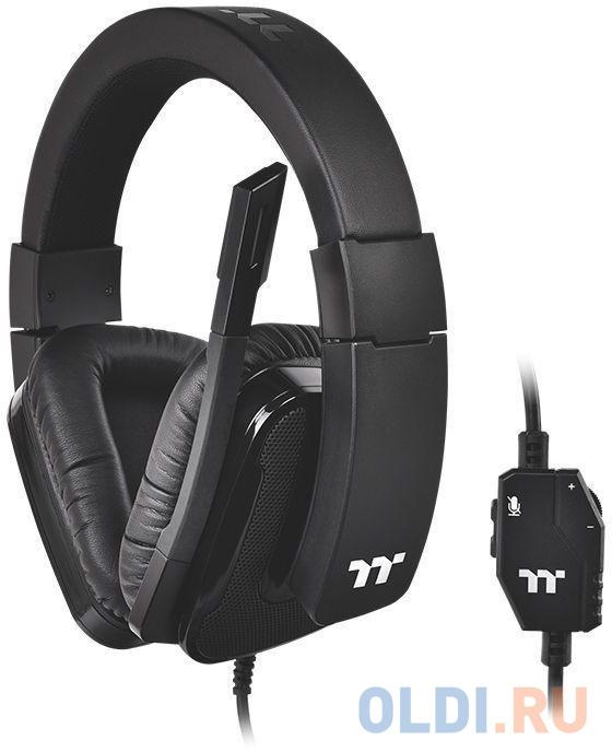 Наушники с микрофоном Thermaltake Shock XT черный накладные оголовье (GHT-SHX-ANECBK-35)