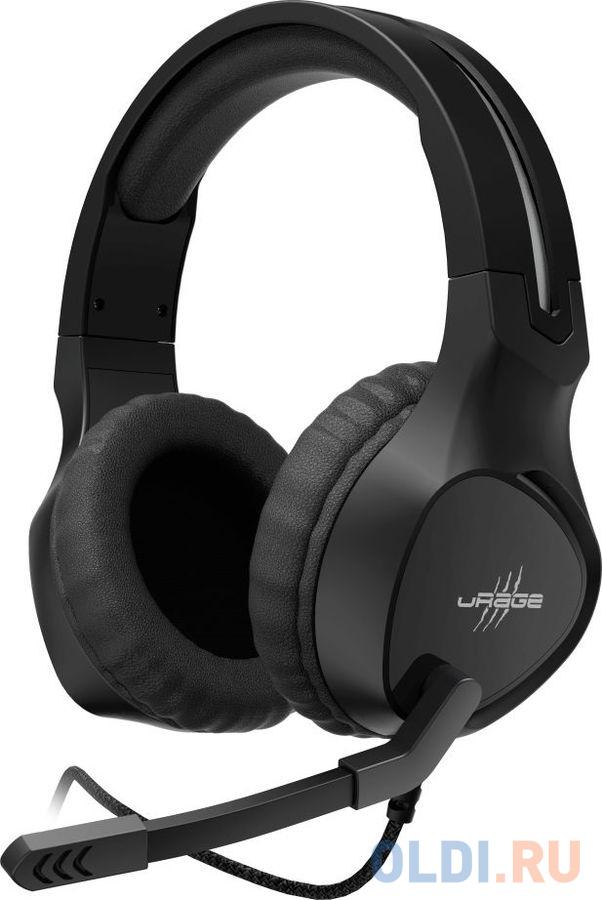 Наушники с микрофоном Hama uRage SoundZ 300 черный 2.2м мониторы оголовье (00186009)