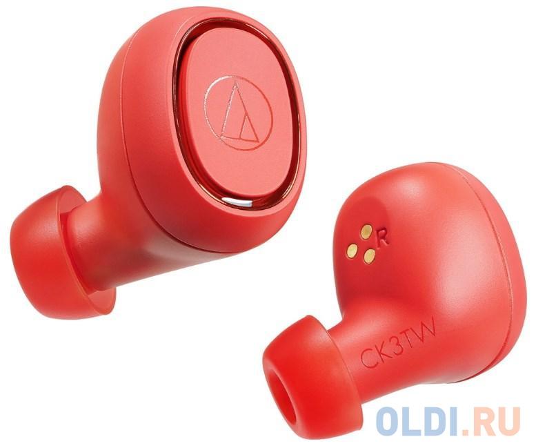 Наушники Audio-Technica ATH-CK3TW красный наушники audio technica ath ck3tw black