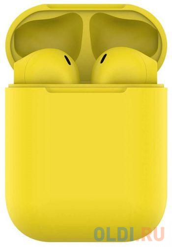 Наушники Hiper TWS AIR Soft Yellow  Bluetooth 5.0 гарнитура Li-Pol 2x50mAh+300mAh желтый