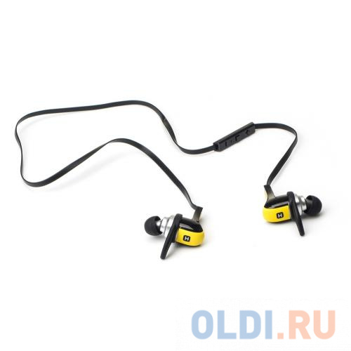 Наушники HARPER HB-308 / Беспроводные / Внутриканальные с микрофоном / желтый / 20 Гц - 20 кГц / 110 дБ / Двухстороннее / Bluetooth недорого