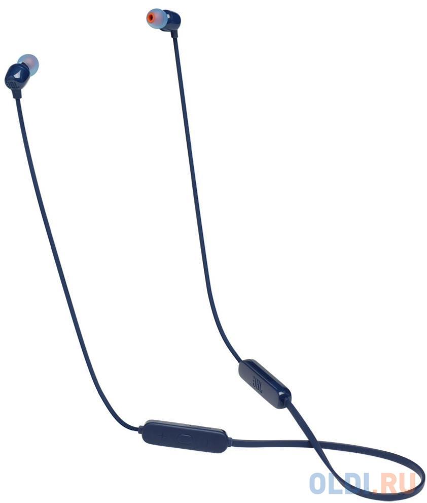 Наушники JBL Беспроводная гарнитура JBL T115BT, синяя
