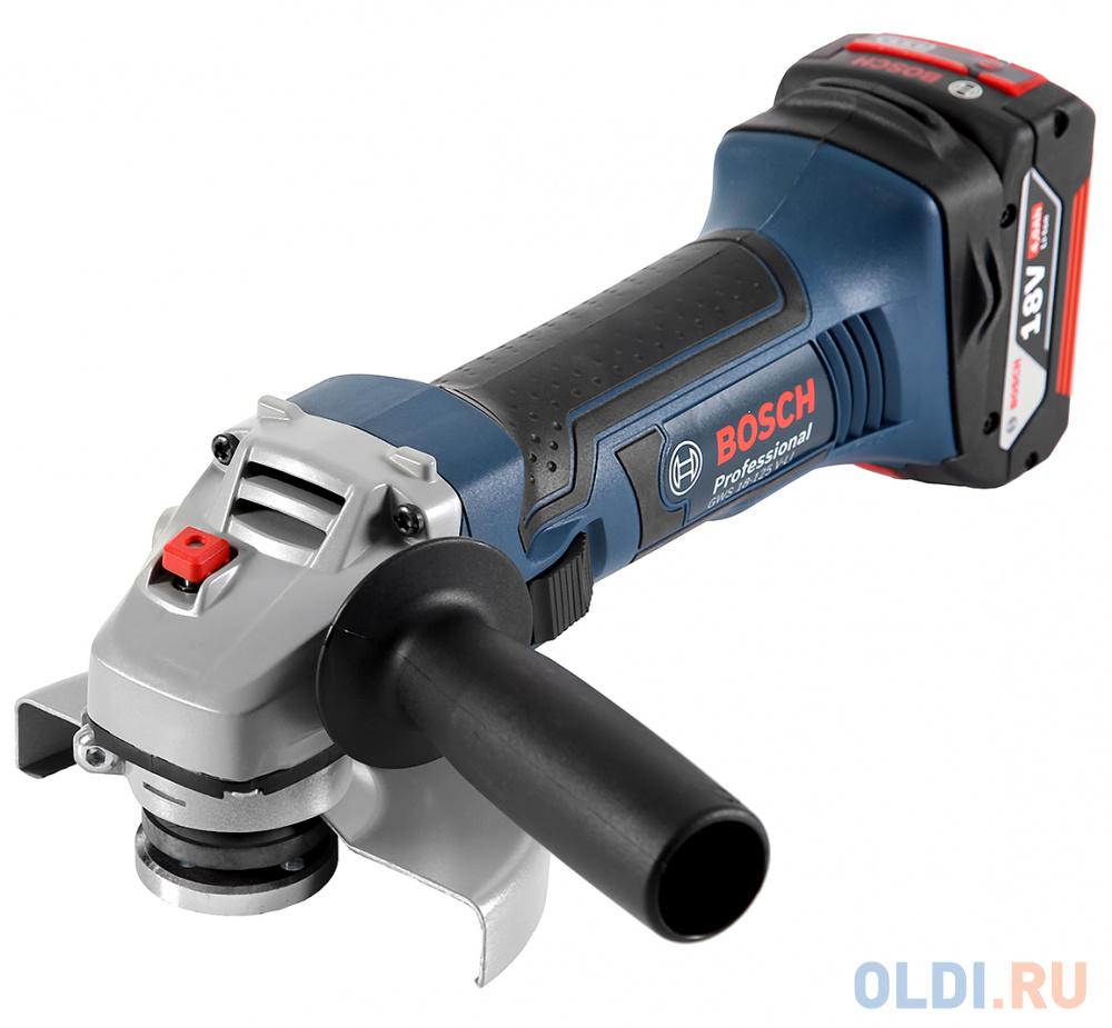 Углошлифовальная машина Bosch GWS 18-125 L 125 мм 1800 Вт ушм bosch gws 18 125 l 1800 вт 125 мм