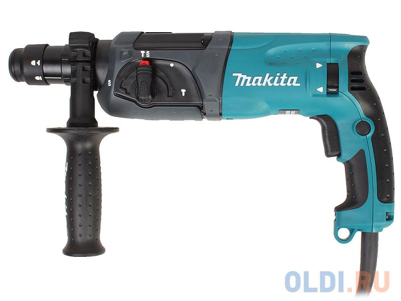 Перфоратор Makita HR2470FT Перфоратор,SDS+,780Вт,3реж,2.7Дж,0-4500у\\м,2.8кг,чем,б\\съемный патрон,зашита уг щеток от пыли