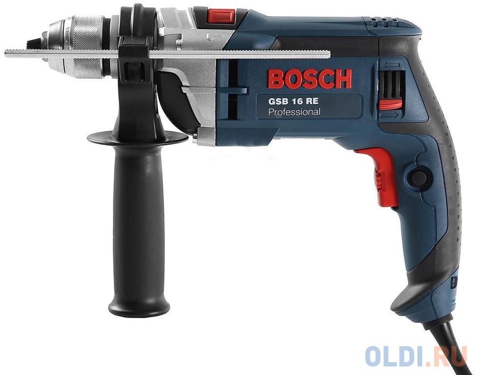Фото - Ударная дрель Bosch GSB 16 RE БЗП 750Вт дрель ударная bosch maximpact 900 0 603 174 020