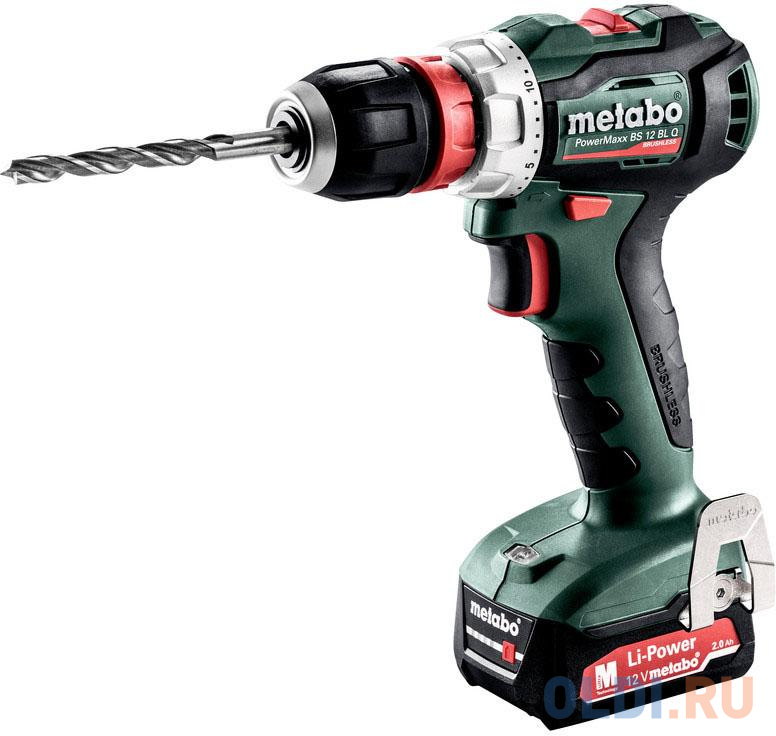 Дрель-шуруповёрт Metabo PowerMaxx BS 12 BL Q metabo powermaxx bs 12 bl 601038500