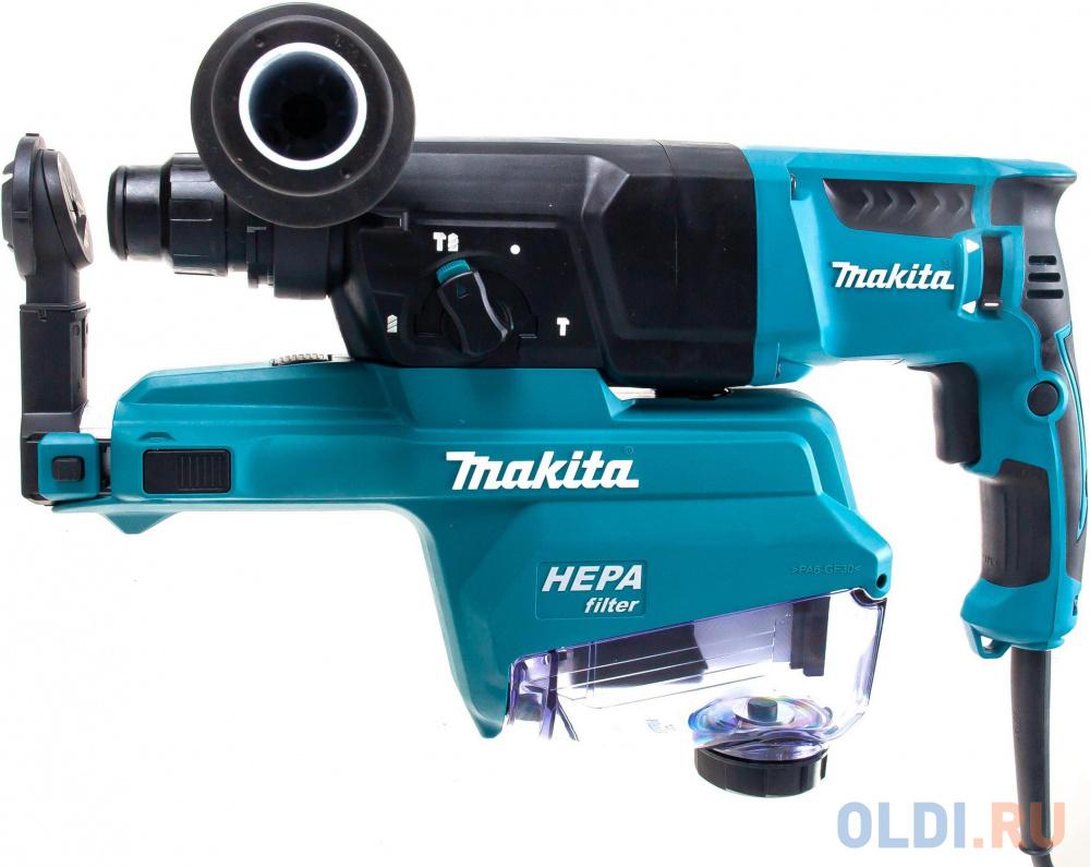 Makita HR2652 Перфоратор SDS-Plus [HR2652] { SDS+,800Вт,3реж,2.9Дж,0-4600у\\м,3.0кг,чем,комплект д\\сбора пыли с фильтром HEPA }