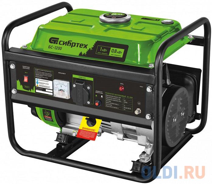 Генератор бензиновый БС-1200, 1 кВт, 230 В, 4-х такт., 5,5 л, ручной стартер </div> <div class=