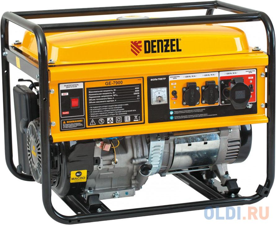 Генератор бензиновый GE 7900, 6,5 кВт, 220В/50Гц, 25 л, ручной старт </div> <div class=