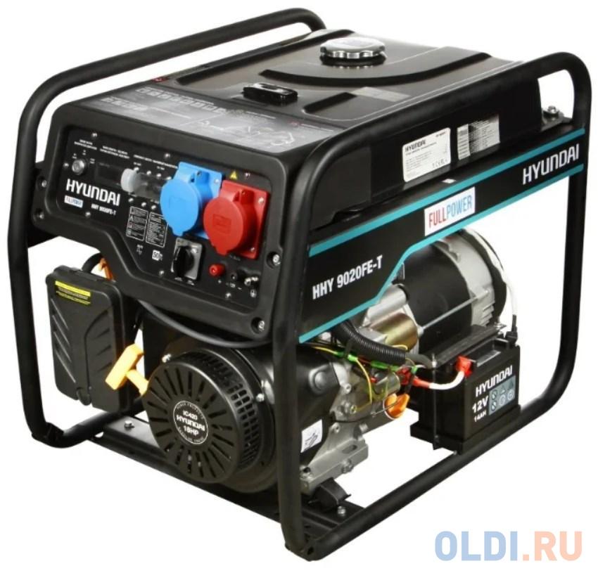 Фото - Генератор бензиновый HHY 9020FE-T HYUNDAI бензиновый генератор konner