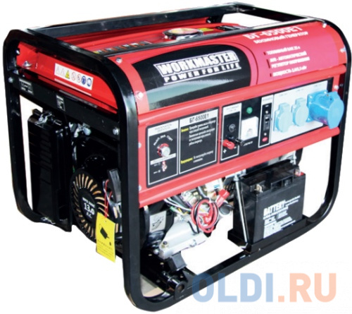 Бензиновый генератор БГ-6500E1 Workmaster, шт