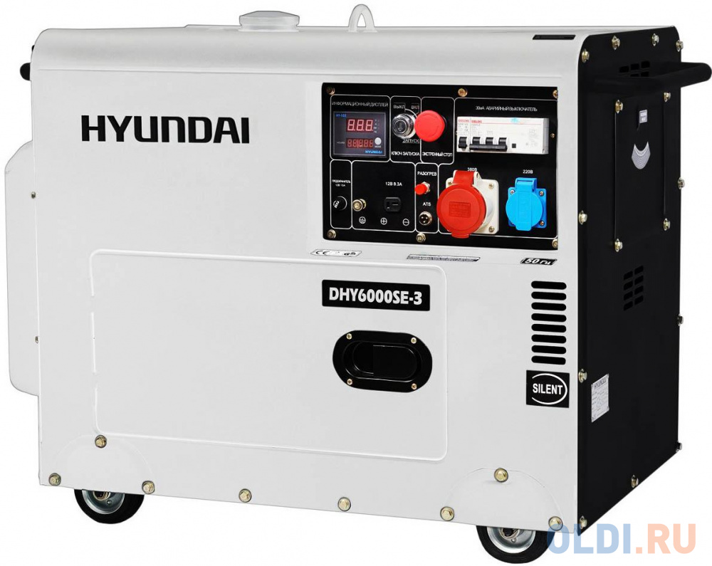 Генератор Hyundai DHY 6000SE-3 10 л.с дизельный дизельный генератор hyundai dhy 8500se 3 380 220 12 в 7 2квт