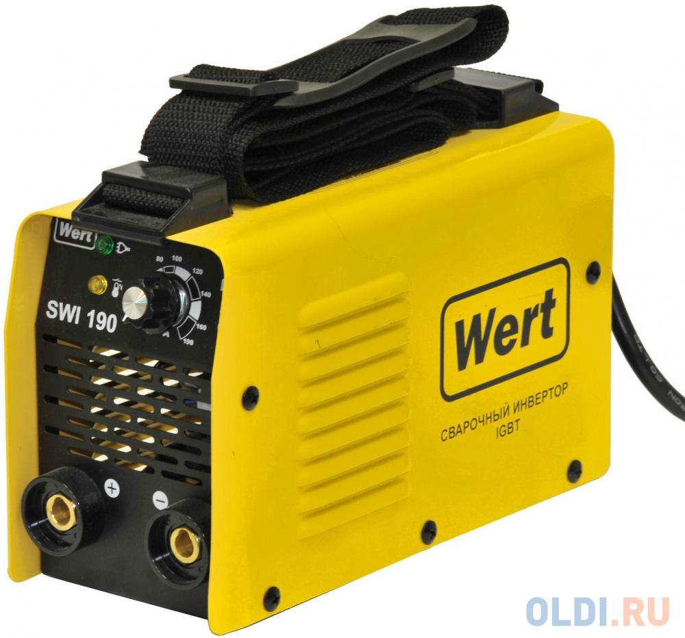Фото - Сварочный инвертор WERT SWI 190 140-250В, 3.5кВт, 20-190А, ПВ=190А/60%, электрод 1.6-4мм, 2.4к насос wert wrs 25 60