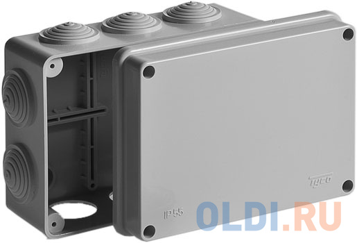 Рувинил 67053 Тусо.Коробка расп. для о/п 150х110х70мм 10вводов IP55.