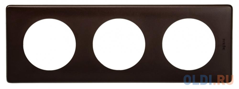 Рамка Legrand Celiane 3 поста черный перкаль 66743.