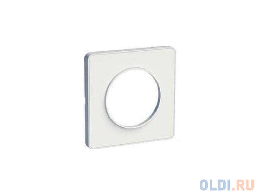 Рамка 1 пост белый ODACE / SCH-S52P802 / Рамка 1 пост белый ODACE рамка schneider electric 270103 odace 2 м бел s52p804