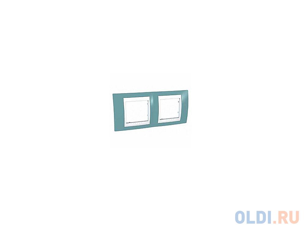 Рамка 2 пост синий/белый Schneider Electric MGU6.004.873 фото