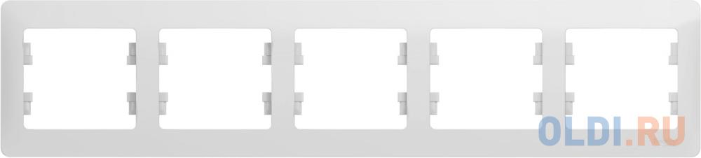 Рамка SCHNEIDER ELECTRIC GSL000105 Glossa 5-м горизонт. бел. рамка schneider electric 270103 odace 2 м бел s52p804