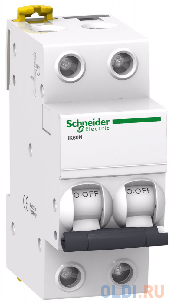 Автоматический выключатель Schneider Electric iC60N 2П 16A C A9F79216