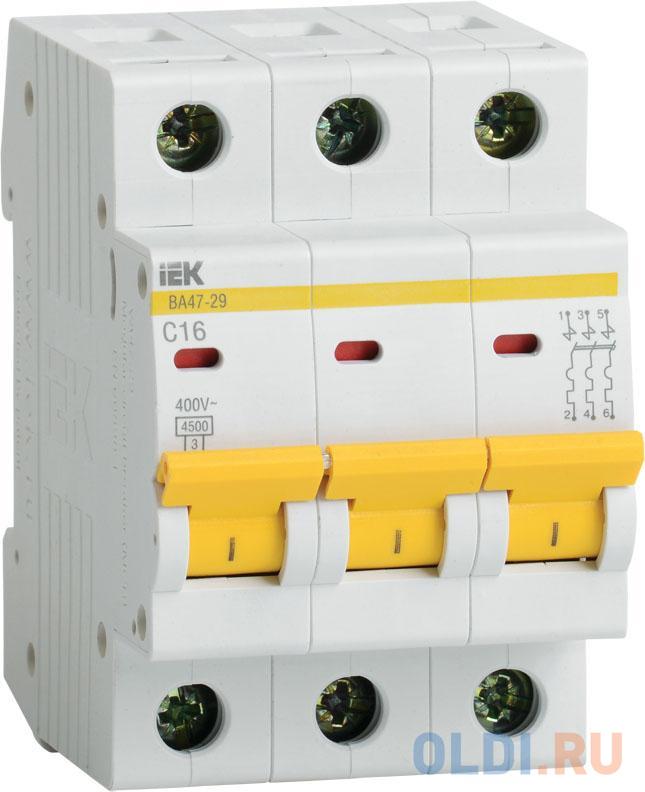 Выключатель автоматический модульный ИЭК 3п C/ 25А ВА 47-29 MVA20-3-025-C