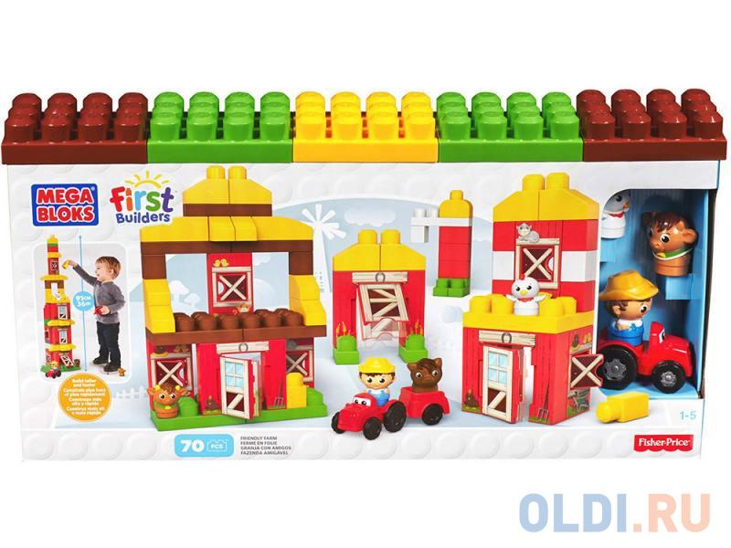 8477177c2ddc Конструктор Mega Bloks First Builders веселая ферма 70 элементов CNG27